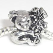 """Jewellery Monster Antique Finish """"Koala"""" Charm Bead for Snake Chain Charm Bracelet"""