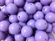 10pc 20mm Purple Acrylic Chunky Beads Bubblegum Beads Necklace Beading Supplies