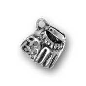 Pewter Baselball Glove Charm