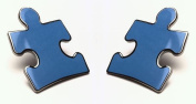 Autism Speaks Puzzle Piece Lapel Pins (Two in Package) - Military Clasp