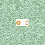 Seafoam Green Miyuki Japanese round rocailles glass seed beads 11/0 Approximately 24 gramme 13cm tube