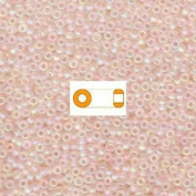 Pale Pink AB Matte Miyuki Japanese round rocailles glass seed beads 11/0 Approximately 24 gramme 13cm tube