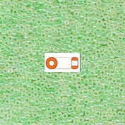 Mint Green Ceylon Miyuki Japanese round rocailles glass seed beads 11/0 Approximately 24 gramme 13cm tube