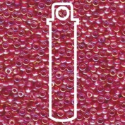 HOT PINK LINED CRYSTAL AB CRYSTAL MIYUKI SEED BEADS APPX 22GM TUBE 8/0 Round