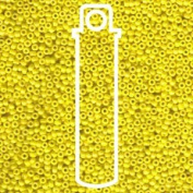 Yellow Opaque Lustre Miyuki Japanese Round Rocailles Glass Seed Beads 11/0 Approximately 24 Gramme 13cm Tube