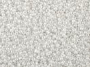 Seed Beads Czech 13/0 Charlotte Cut More Colours (a one hank pack) White Lustre