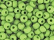 Seed Beads 6/0 Czech Matte (a full 38 gramme pack) over 400 colours available individually!, Opaque Lime