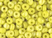 Seed Beads 6/0 Czech Opaque Rainbow (a full 38 gramme pack) over 400 colours available individually!, Lemon