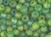 Seed Beads 6/0 Czech Matte Rainbow (a full 38 gramme pack) over 400 colours available individually!, Translucent Light Green