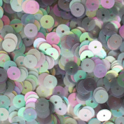 6mm Flat Round SEQUIN PAILLETTES ~ grey SILVER GREY FROST Iridescent Rainbow ~ Loose sequins for embroidery, bridal, applique, arts, crafts, and embellishment. Made in USA.