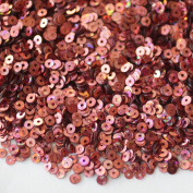 3mm Flat Round SEQUIN PAILLETTES ~ PINK HOLOGRAM ~ Loose sequins for embroidery, bridal, applique, arts, crafts, and embellishment. Made in USA.