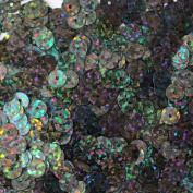 6mm FLAT SEQUINS PAILLETTES ~ Premium GALACTIC NIGHT SKY HOLOGRAM Multi Black Metallic ~ Loose paillette sequins for embroidery, applique, arts, crafts, bridal wear and embellishment. Made in USA