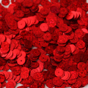 8mm Flat Round SEQUIN PAILLETTES ~ RED Multi HOLOGRAM ~ Loose sequins for embroidery, bridal, applique, arts, crafts, and embellishment. Made in USA.