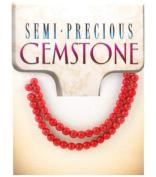 Gemstone Round 4mm 48/PK-Rec.Coral