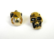 5 Metal Gold Skull Beads For 550 Paracord Bracelets, Lanyards, & Other Projects