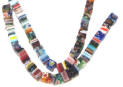 Bead Collection 40147 Glass Milifiore Light Multi Colour Beads, 18cm