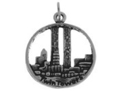 Sterling Silver Twin Towers Charm