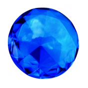 Giant 60mm Cobalt Blue Cut Glass Diamond Jewel