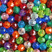 8mm Multi-Colour Faceted Beads