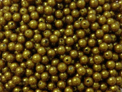 100pc 8mm Dark Goldenrod Acrylic Pearl Beads Gumball Bubblegum Beads Necklace Beading Supplies