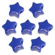 450 Blue Star Pony Beads
