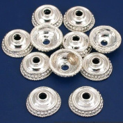 Dot Bali Bead Caps Silver Plated Beading 14mm Approx 10