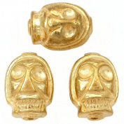 Skull Beads Gold Plated Skeleton Beading 15mm Approx 3