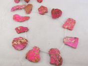 Jasper Beads 12pcs Pink Colour 2cm x 3.8cm Irregular Shape 41cm Per Strand