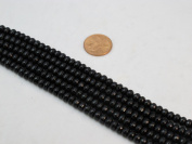 Black Onyx Faceted Beads 4*6mm Roundell 15'' Per Strand