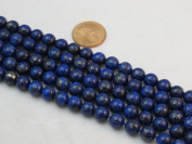 Lapis Lazuli 8mm Round 15.5'' Strand Mohs Hardness 5 to 6 Blue Gemstone