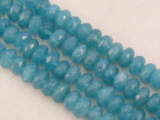 Blue Sponge Quartz Beads Blue Colour Faceted Rondelle 5x8mm 15.5''