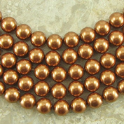 25 8mm. crystal pearl 5810 Copper beads