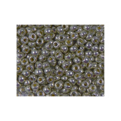 Duracoat Galvanised Pewter Miyuki Japanese round rocailles glass seed beads 11/0 Approximately 24 gramme 13cm tube