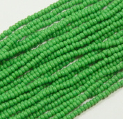 Green Opaque Czech 8/0 Glass Seed Beads 1 Full Hank Preciosa Jablonex
