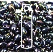 Metallic Blue Iris 3x5.5mm Long Drop Miyuki Japanese Glass Seed Beads 25 Gramme Tube
