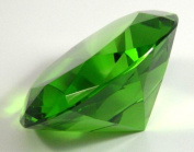 80mm Green Diamond Paper Weight Crystal Cut Glass Designer Collection MY-0202