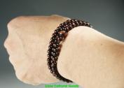 "21"" 6MM 108 Beads Fu Tibetan Prayer Mala Wood Necklace and Hand-N019"