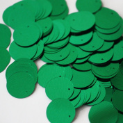 20mm Round SEQUIN PAILLETTES ~ GREEN Metallic ~ Loose sequins for embroidery, bridal, applique, arts, crafts, and embellishment. Made in USA.