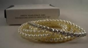Avon Pretty Pearlesque and Rhinestone Stretch Braclet Set