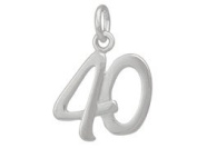 Sterling Silver 40 Forty Charm