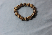 Tibetan Buddhist Om Scripted Wrist Mala/ Bracelet for Meditation