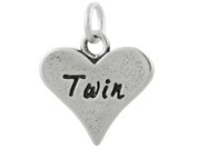 Sterling Silver Twin Charm