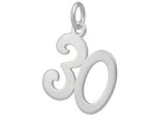 Sterling Silver 30 Thirty Charm