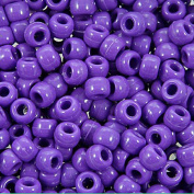 The Beadery 6 by 9mm Barrel Pony Bead in Dark Lilac, 900-Piece