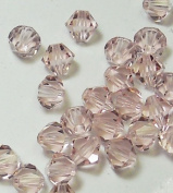 4mm Preciosa Czech Crystal Light Rose Beads Bicones Package of 144