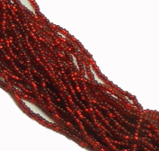 Ruby Red Copper Lined Czech 8/0 Glass Seed Beads 1 Full 12 Strand Hank Preciosa Jablonex