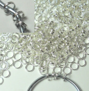 1000 Silver Plated Steel 6mm Split Rings Jewellery and Charm Connectors Charm Hanger