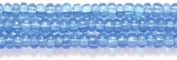 Preciosa Ornela Czech Seed Bead, Transparent Light Sapphire, Size 10/0