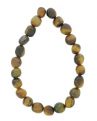Tennessee Crafts 1600 Semi Precious Tiger Eye Nature Shape Beads, 8 by 10mm