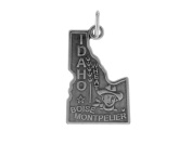 Sterling Silver Idaho State Charm